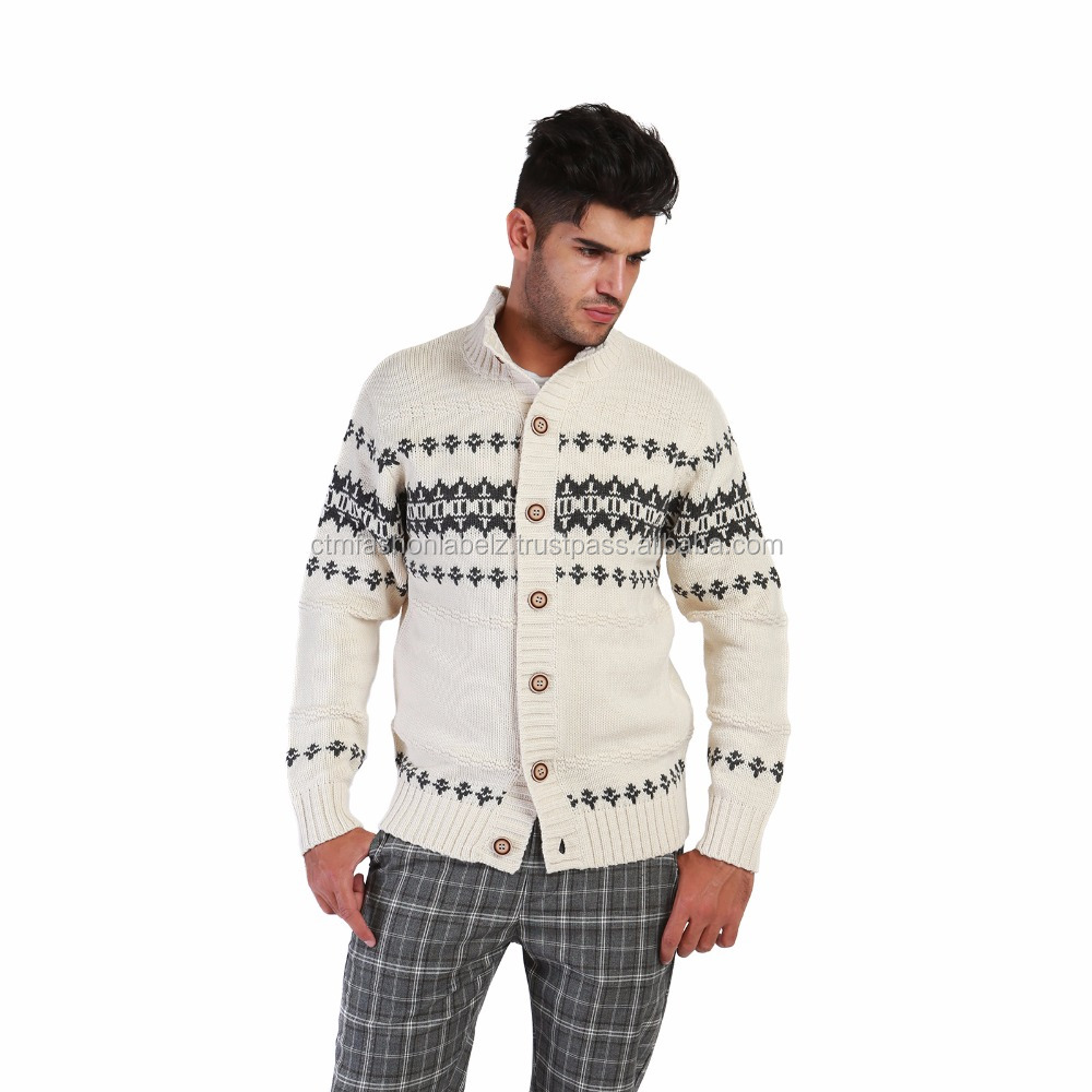 Richfield men's cardigan, norway's style and button closure