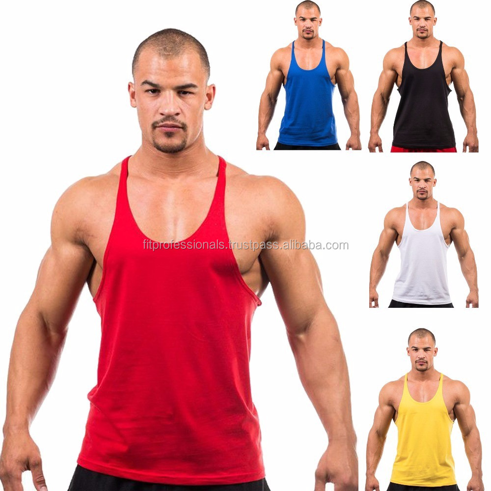 9ea4972f14c1d Wholesale Plain White Stringer Y Back Tank Tops - Buy Gym Singlet ...