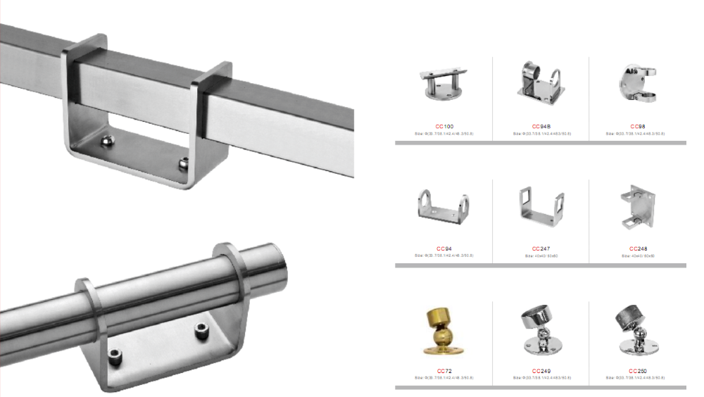 Steel Railing Fittings/glass Railing Fittings/stainless ...