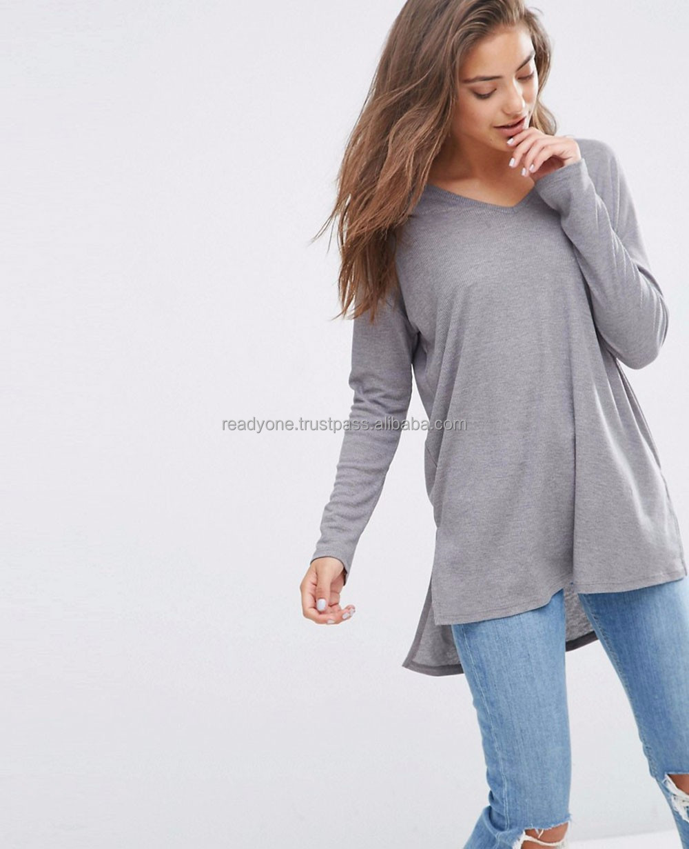 Wholesale clothing apparel custom cheap woman long sleeve online shopping india ladies new design