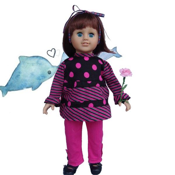 Nuevo Tipo De Muñeca American Girl Comunión Vestido/18 Pulgadas ...