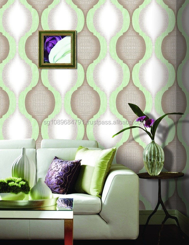 Professional wallpaper manufacture 3D washable vinyl nature hd wallpapers picture pvc