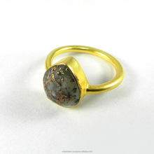 Pyrite marcassite poire <span class=keywords><strong>rose</strong></span> coupe lunette ensemble plaqué or <span class=keywords><strong>bague</strong></span>