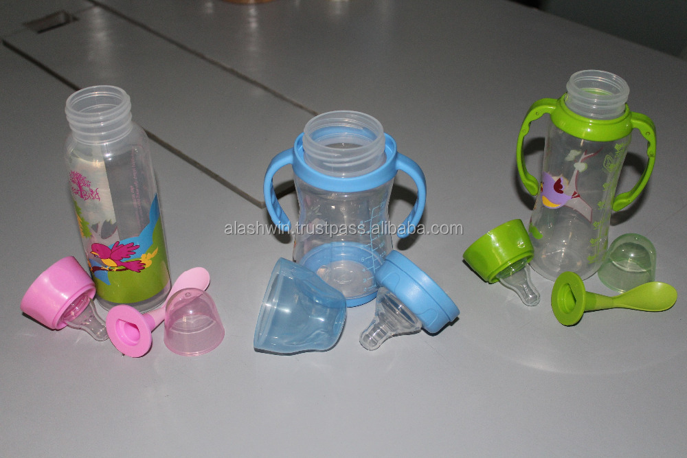 baby feeding bottles with different colors
