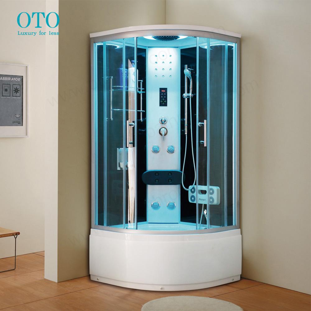 Luxury Black 900*900 Steam Shower Room Enclosure Cubicle Cabin Model ...