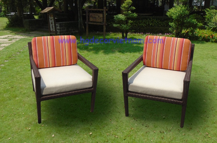 Nieuwe ontwerp relax stoel met poef rotan stoel met sunbrella
