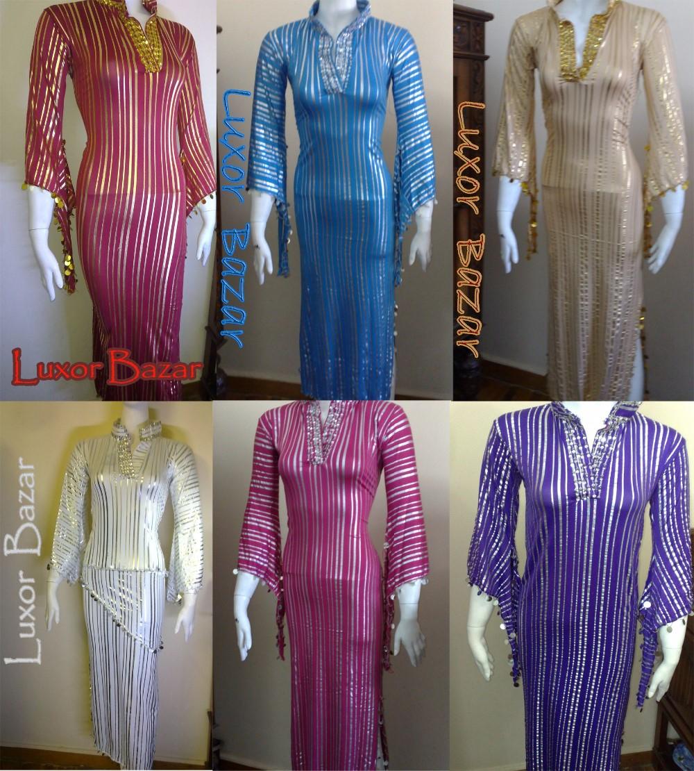 Kaftan Egyptian Belly Dance Dress Saidi Costume,Baladi Galabeya Fallahi Abaya