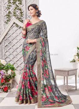 e930ecefc3 Saree - Party wear designer printed saree - Indian saree names - Indian  saree - Gujarati