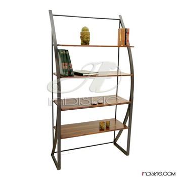 Industrial Bookshelf Vintage Shelving Bookcase Shelves