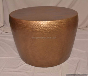 Golden Powder Coated Hammered Coffee Table