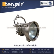Pneumatic Safety Light for Lighting Hazardous Areas