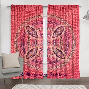 Indian Style Living Room Valances Decor Mandala Curtains Design ...