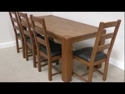 Boston 1.8m solid oak dining table 8 seater