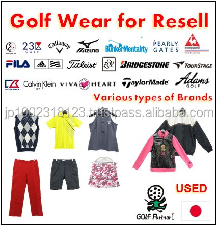 Various types of clothing from egypt and golf wear with good condition