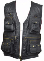 men down leather vest down jacket for winter