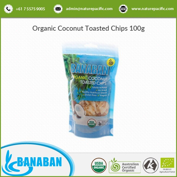 Natural Taste Widely Demanded Organic Coconut Chips for Bulk Buyer