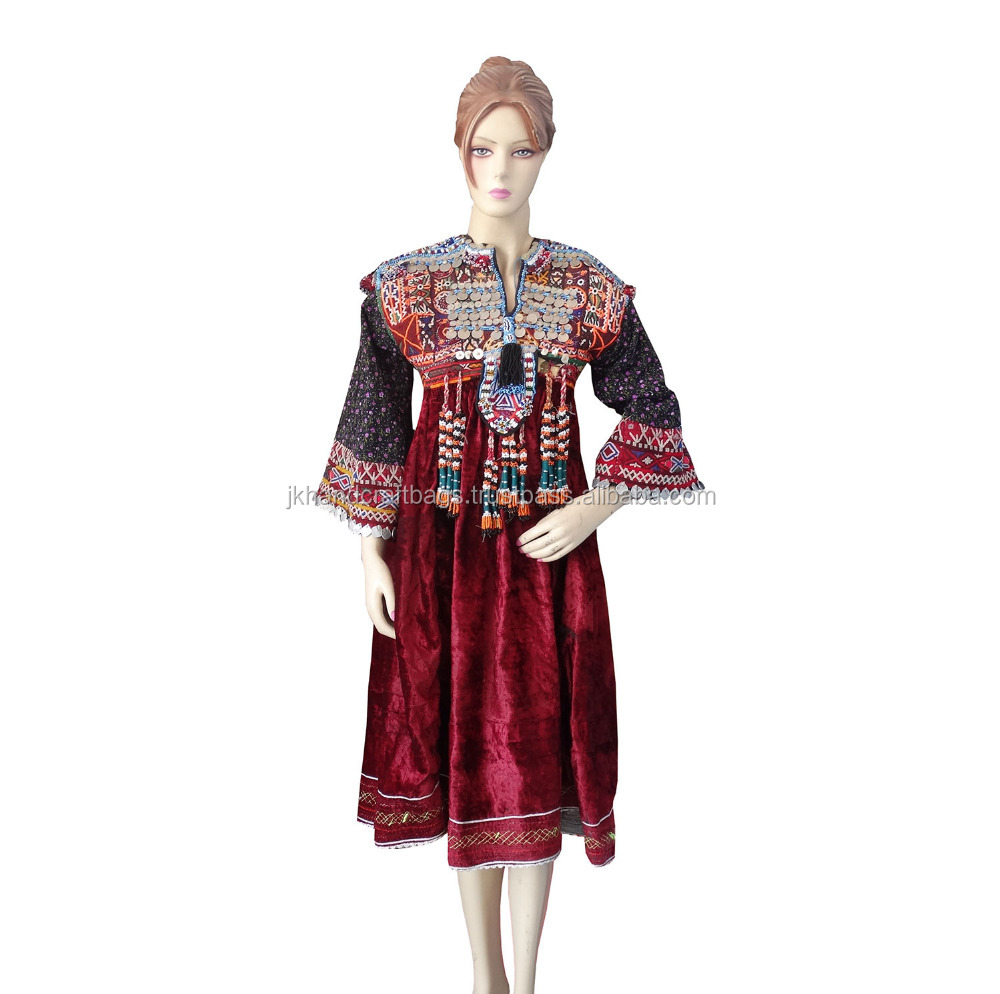 Vintage Gypsy Kutchi Dress With tassles One Of Kind Handmade Banjara Dress