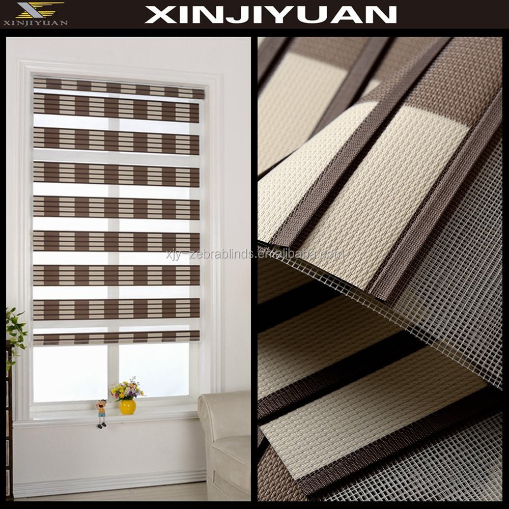 Zebra Fabric Roller Blinds For Home Decor With Cheap
