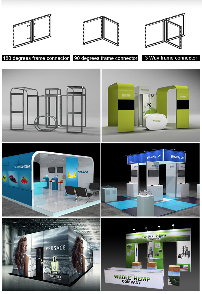 20x20 custom aluminum system trade show exhibit booth