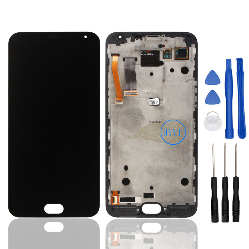 Original Pantalla Tactil Display for Meizu MX5 LCD and Touch Screen With Frame