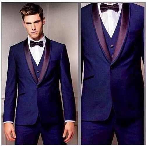 2016 Blue Latest Design Coat Pant Men Suit Custom Tailor Made Slim ...