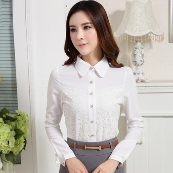 568d1597c21 Latest Design Women's Slim Fit Dress Shirt For Business Manufacture ...