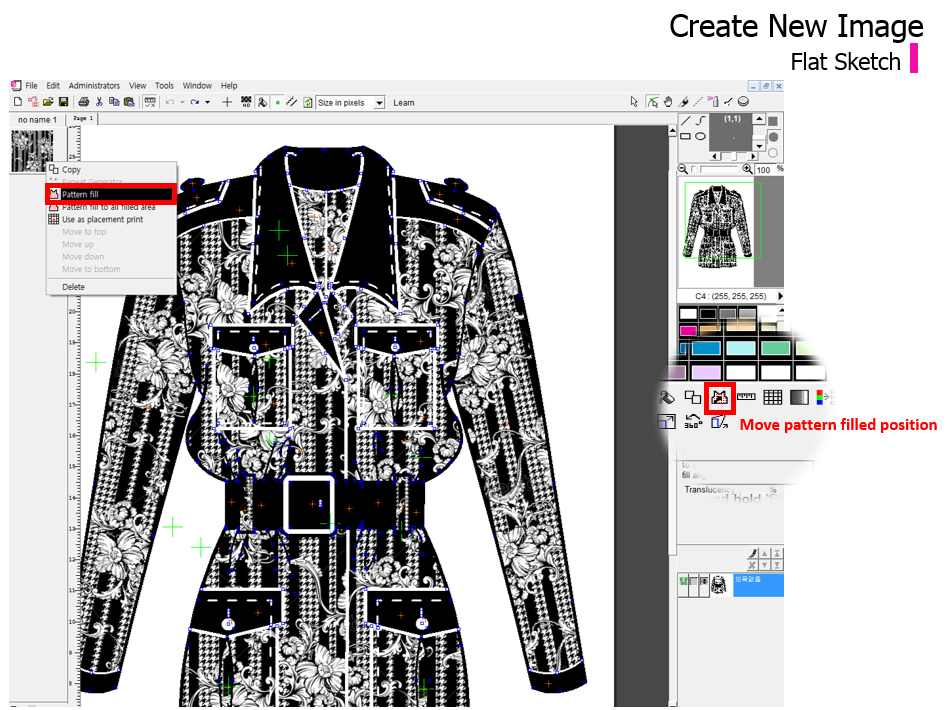 Fashion textile design software 87