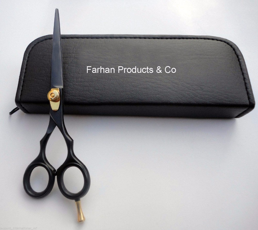 "Black 6"" Professional Hair Cutting Scissors Barber Salon Stylist Shears Hairdressing Black"