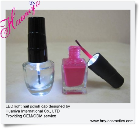 nail brush with LED light cap