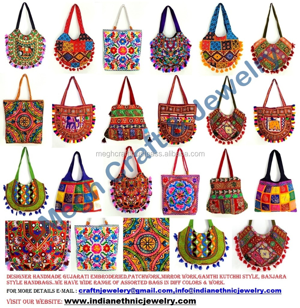 2015 Wholesale Indian Traditional Handbags Gujarati Kutch