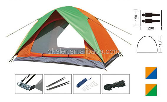 2 Person High Quality Waterproof Colorful Folding Camper Trailer Camping Tent