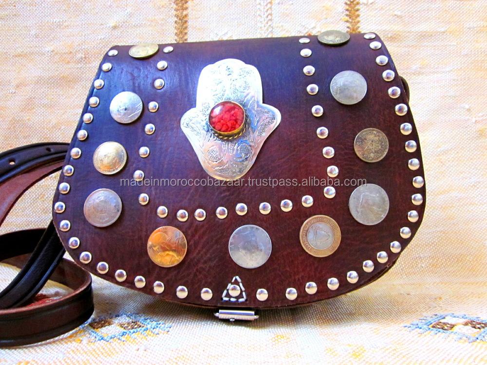 Splendid Marokkanischen Handgefertigte Echtes Leder Münztüte Buy
