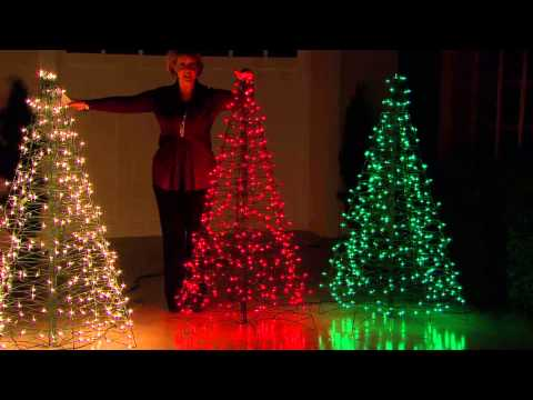 Pre-Lit 5' Fold Flat Outdoor Christmas Tree by Lori Greiner with Dan Wheeler