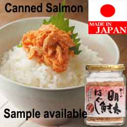 Japanese canned tuna salmon flake made in Japan spicy cod roe flavor