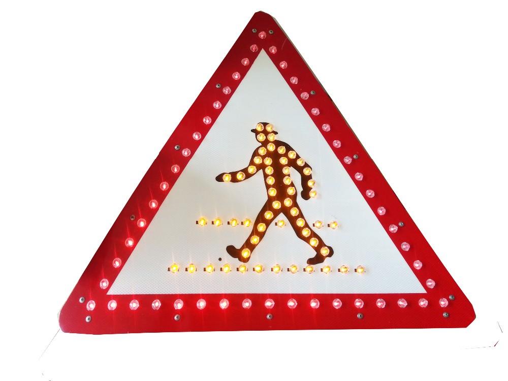 Road Traffic Signs Led Reflector Warning Triangle Solar Led Warning