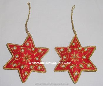 Expensive Christmas Ornaments.Handmade Zari Embroidery Christmas Tree Hanging Ornaments Buy Expensive Christmas Ornaments Star Shape Hanging Ornament Beautiful Design Hanging