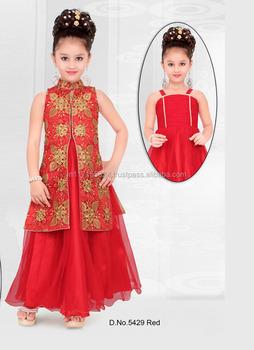b7e36cccb Niños Fancy trajes anarkali diseño en Surat-proveedor diseñador mayor niños  trajes anarkali trajes rojo