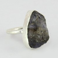 Occuring Less Often !! Iolite 925 Sterling Silver Ring, Unique 925 Sterling Silver Jewelry, Wholesale Gmestone Rings
