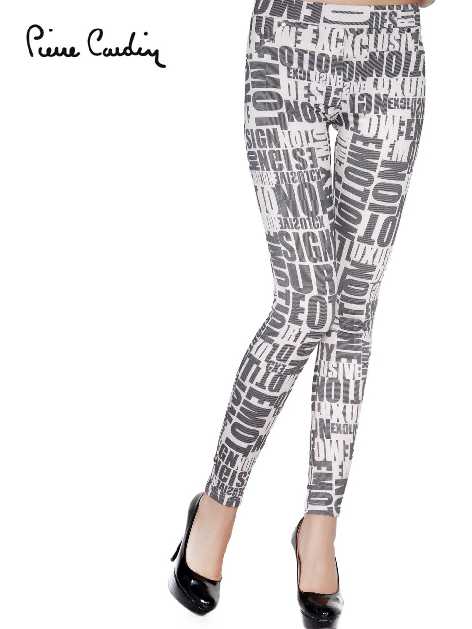7c11b30b0534a PIERRE CARDIN OEM WOMEN'S TIGHTS COLLECTION TRENDY WHITE & BLACK  COMBINATION PATTERNED LEGGINGS