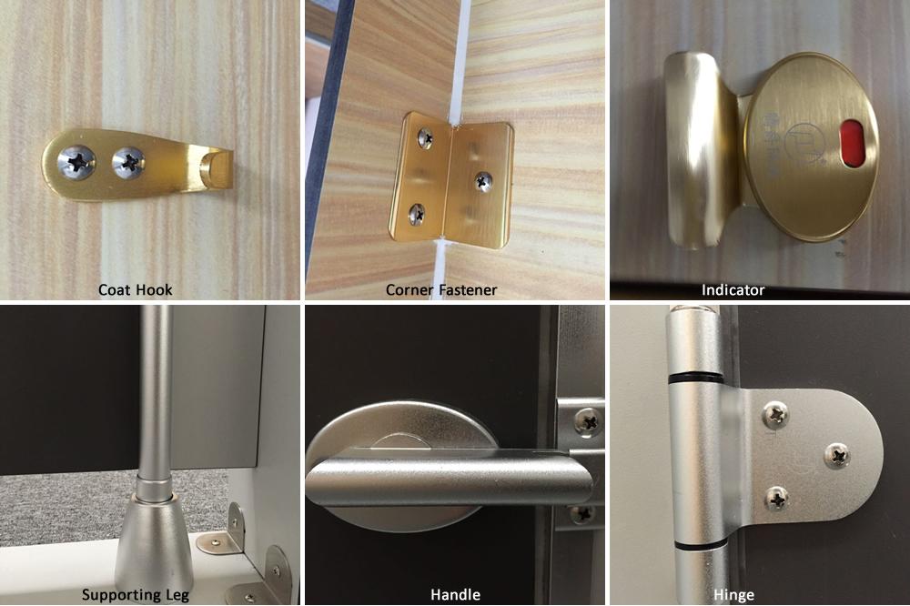304 Stainless Steel Toilet Cubicle Door Locks Fittings