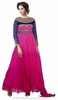 Pink Anarkali Dress Online Shopping In India Surat Party Wedding Designer  Anarkali Salwar Suit Wholesaler 3f9fa2e29