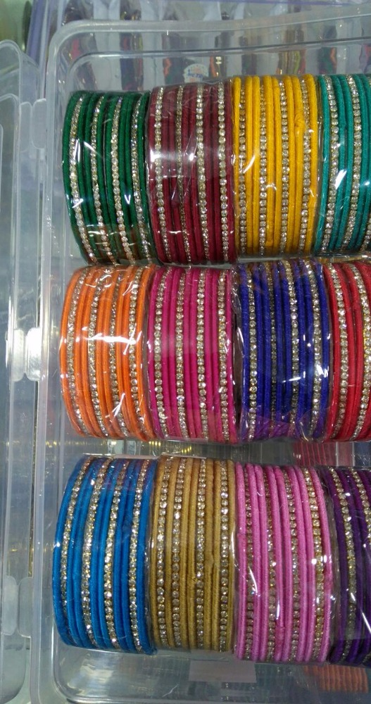 Artificial jewellery metal base bangle crat indian bollywood bridal bangle set