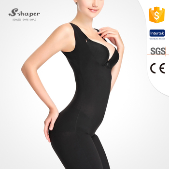 1ec2a248411 S-shaper Italian Carvico Fabric Seamless Capri Bodysuit Shapewear ...
