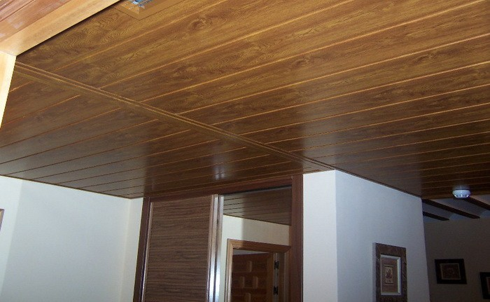 Tablillas,Cieloraso Algérie Faux Bois Mur Plafond Revêtement Pvc Bois  Panneau De Conception De Plafond De Panneau En Plastique Pour La Décoration  De ...