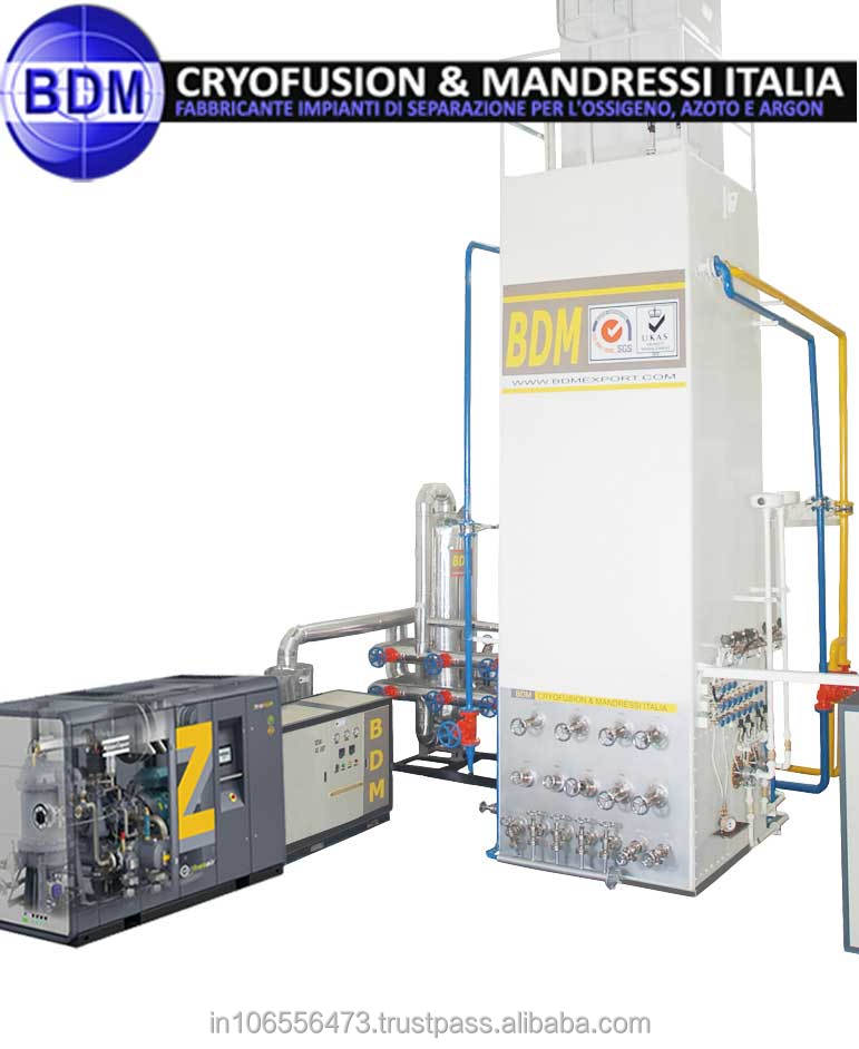 Process of generating oxygen plant with new technology for Oxygen plant