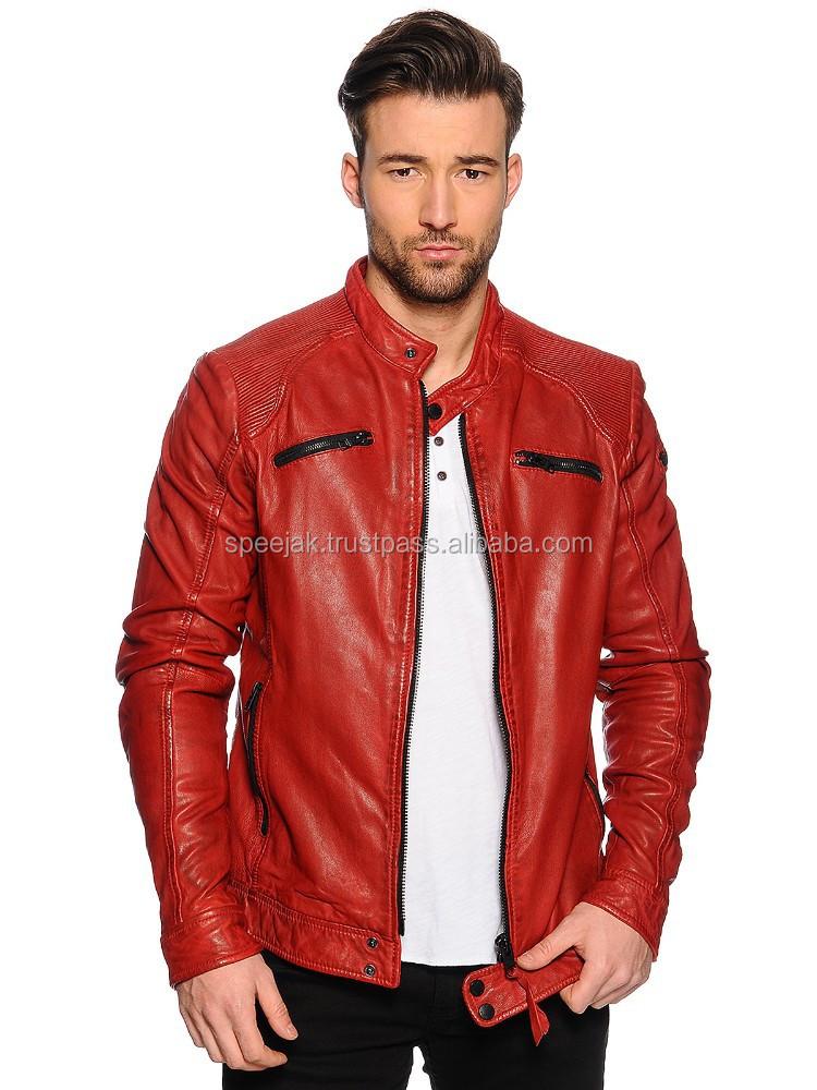 a866c8f2e8fa3 chaqueta piel roja hombre