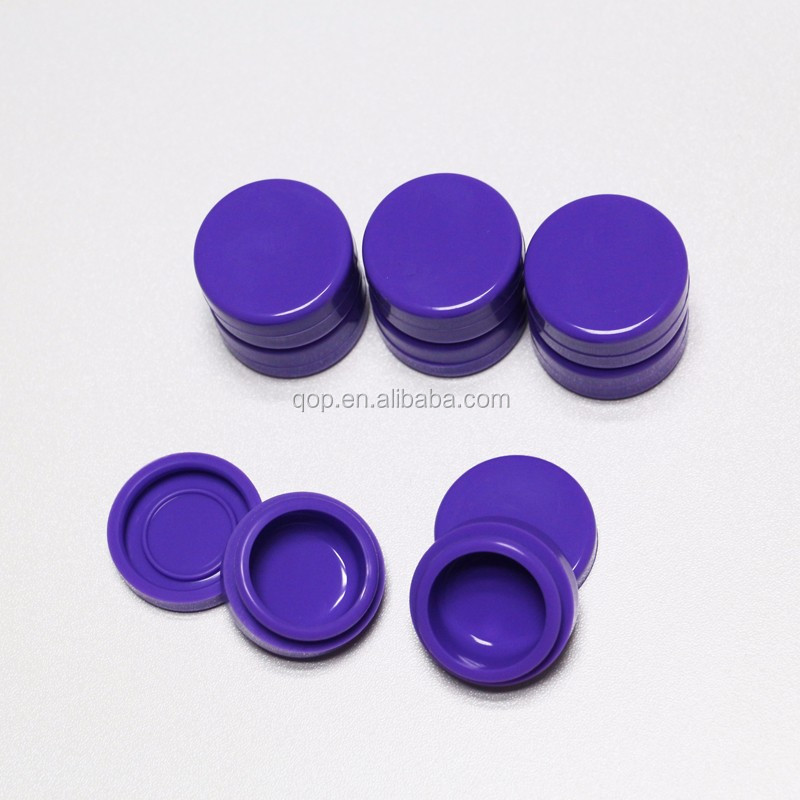 3ml qop low price oem round shape cosmetic cream jars seals non stick silicone weed jars containers for wax in stock