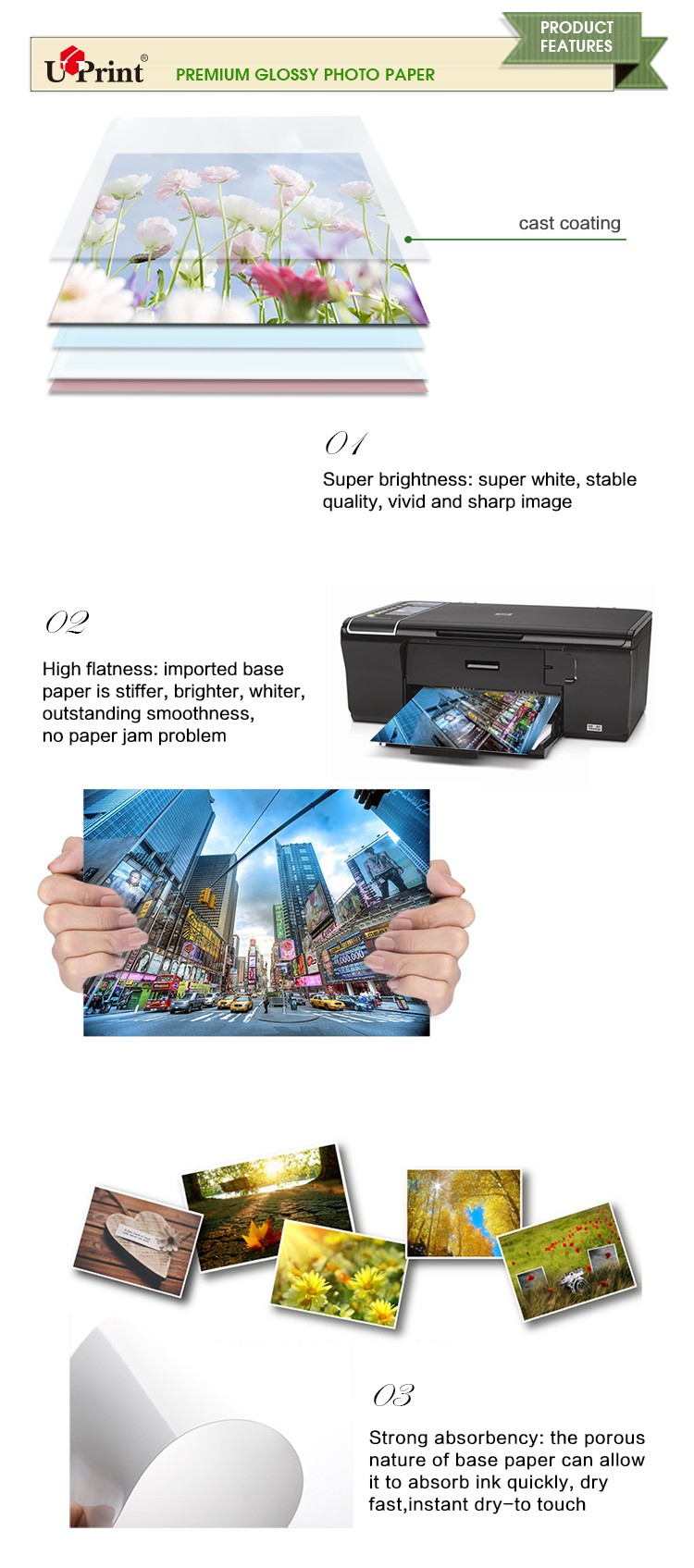 115g 135g 150g Inkjet a4 glossy photo paper photo paper a4 80gsm
