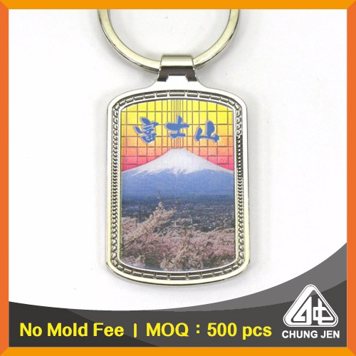 High Quality Key Chain Supplier Mountain Souvenirs Zamac Metal Keyring