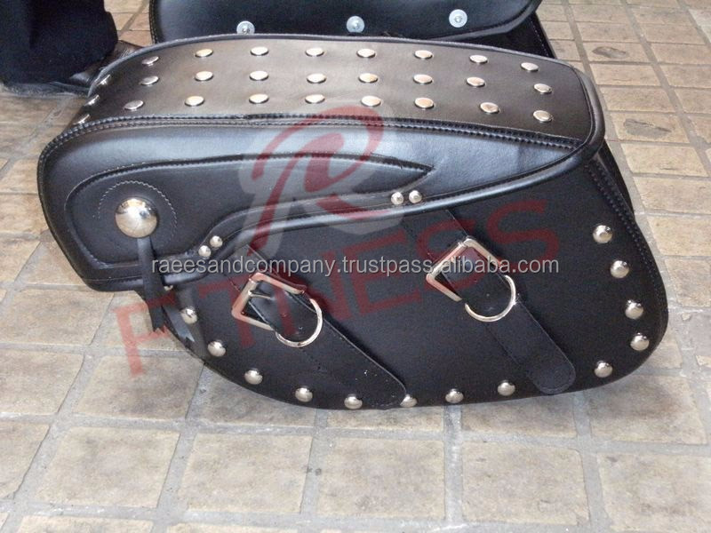 MOTORBIKE GENUINE LEATHER TOOL ROLL SADDLE BAG